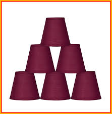 marvelous urbanest burdy cotton mini chandelier lamp shade inch image of clip on light ideas and
