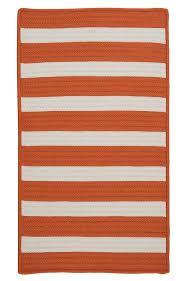 colonial mills braided rugs stripe it orange 15736 undefined