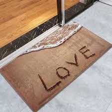 c velvet antislip beach style bathroom rug