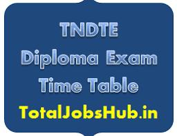 tndte diploma time table dote polytechnic exam schedule tndte diploma time table