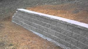 cinder block retaining wall with sutaible concrete block retaining wall footings with sutaible building a stone