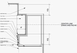 shower niche construction drawings