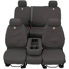 com covercraft carhartt seatsaver front row custom fit seat cover for select ford models duck weave gravel automotive