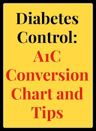 diabetes control a1c conversion chart tips easyhealth living