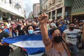 anti-government protests in Cuba ...