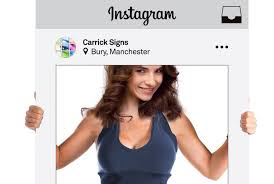 instagram photo frames props printed instagram social media frame printing
