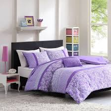 com mizone riley 4 piece comforter set full queen purple home kitchen