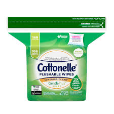 cottonelle gentleplus flushable wet wipes with aloe vitamin e 168 wipes per pack