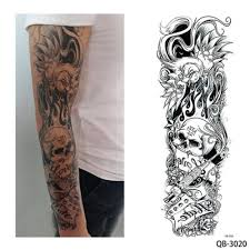 1 Piece Water Transfer Temporary Tattoo Full Arm тоту мужские