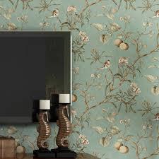 pune dark blue retro flower wallpaper american country living room sofa backdrop wallpaper bedroom wallpaper angelina jolie wallpaper angelina jolie