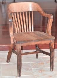 vintage wooden oak library chair bankers chair courthouse chair antique vintage macey co arm chair bankers lawyers jury desk chairs