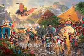 Small Picture Aliexpresscom Buy Thomas Kinkade Oil Paintings Dumbo Art home