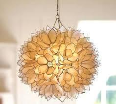 capiz pendant chandelier pendant light p capiz drum pendant chandelier
