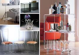 Clear acrylic furniture Table Karen Mills More Acrylic Furniture Finds For Sleek Style