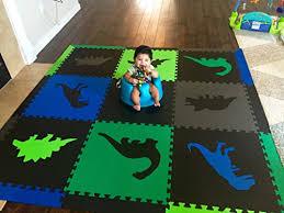 softtiles children s foam playmat jurassic dinosaur theme non toxic interlocking