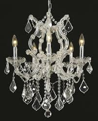 elegant lighting 2800d20c ec sh 1r23s crystal maria theresa chandelier clear