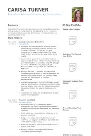 Assistant Account Executive Resume samples - VisualCV resume ...