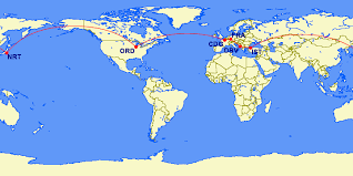 Ana Rtw Chart Book A Round The World Flight Starting At 65 000 Amex