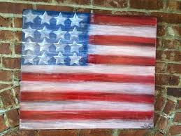 photo of paint mix united states all american flag painted on wood wall art flag painted on wood