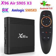 Smart TV Box X96 Air Amlogic S905X3 Android 9.0 4GB 32GB 2.4G 5G Wifi BT4.1  Set Top Box 1080P 4K Netflix Media Player|Set-top Boxes