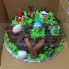 Delhi Special Angry Birds Designer Chocolate Cake Delivery In Delhi