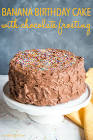 anna banana s birthday cake with chocolate fudge icing