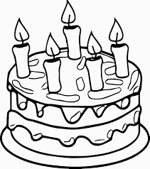 Birthday Cake Candle Coloring Page For Cake Coloring Page