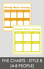 Family Home Evening Chart Ideas A Year Of Fhe Freebies