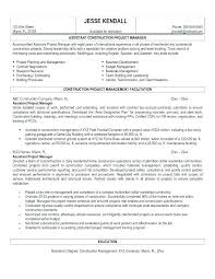 Sample Resume Construction Project Manager Project Manager Cover Letter Samples Bitacorita