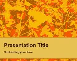 Free Fall Powerpoint Fall Powerpoint Background Template