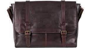 wilsons leather dakota skinny strap leather messenger bag in brown for men lyst