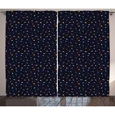 Science Themed Backgrounds Spaceship Curtains 2 Panels Set A Vast Collection Of Science