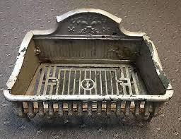 antique cast iron fireplace grate insert coal log holder fleur de lis 482393544