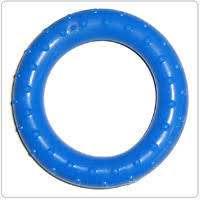 <b>Эспандер</b>-кольцо кистевой, массажный, синий, (20 кг) (Россия)