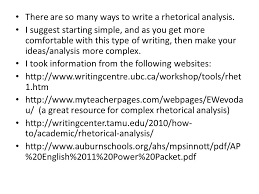 rhetorical analysis sourced from sfcss ppt  there are so many ways to write a rhetorical analysis