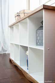 don t throw out those old melamine bookcases create a beautiful farmhouse console table