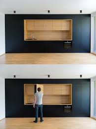 Matte Black Kitchen Cabinets Black And Wood As Used Here Are Entirely Minimalist With Every