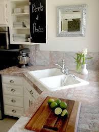 granite countertop with corner kitchen sink image
