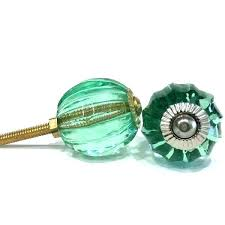 ideal green glass cabinet knobs with emerald