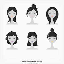 女性の顔のイラスト ベクター画像 無料ダウンロード