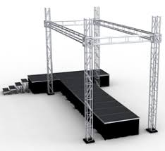 concert stage speakers. we offer stage trussing for lights, drapes and speakers. concert speakers e