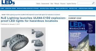 leds njz lighting launches ul844 c1d2 explosion proof led lights for hazardous locations