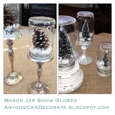 Anyone Can Decorate: DIY Mason Jar Snow Globes - Anthropologie Inspired
