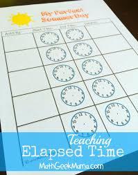 Summer Math Camp Week 5: Telling Time
