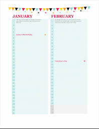 Birthday Anniversary Calendar Birthday And Anniversary Calendar