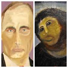 putin defaced painting spain