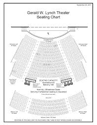 Klein Memorial Auditorium Seating Chart Gerald W Lynch Theater Seating Chart