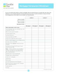 Printable Comparison Chart Fill In The Blank Chart To Compare Loan Mortgagr Fill