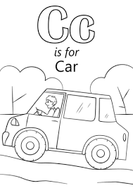 Small Picture Letter C is for Car coloring page Free Printable Coloring Pages