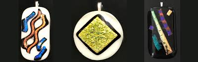 dichroic glass pendants pa guild of